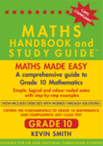 Picture of Maths Handbook and Study Guide Grade 10 (Bermaths Books 2019-2020)