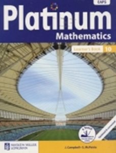 Picture of Platinum Mathematics Grade 10 Learner's Book (CAPS) (Pearson)