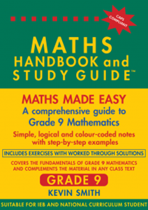 Picture of Maths Handbook and Study Guide Grade 9 (Bermaths Books 2019-2020)