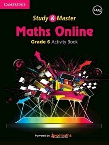 Picture of Study & Master Maths Online Grade 6 Activity Book  (Cambridge University Press 2019-2020)