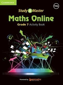 Picture of Study & Master Maths Online Grade 7 Activity Book (Cambridge University Press 2019-2020)
