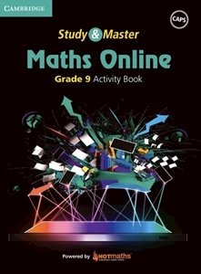Picture of Study & Master Maths Online Grade 9 Activity Book  (Cambridge University Press 2019-2020)