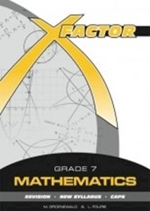 Picture of X-Factor Mathematics Grade 7 Study Guide, by Fourie; Groenewald (Future Managers 2019-2020)