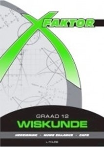 Picture of X-Faktor Wiskunde Graad 12 Studiegids, by Fourie (Future Managers 2019-2020)