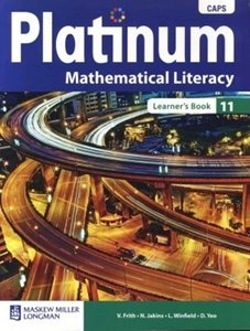 Picture of Platinum Mathematical Literacy Grade 11 Learner's Book (CAPS) (Pearson 2019-2020)