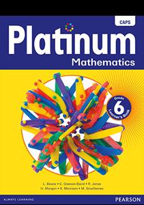 Picture of Platinum Mathematics Grade 6 Learner's Book (CAPS) (Pearson 2019-2020)