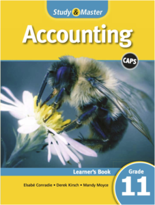 Picture of Study & Master Accounting Learner's Book Grade 11 (Cambridge University Press 2019-2020)