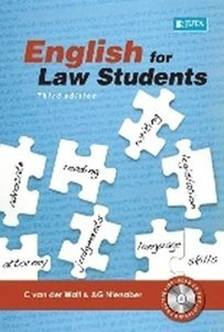 Picture of English for Law Students (includes audio CD) (2019 - 3rd Edition) (C van der Walt, A G Nienaber) Juta (2020)