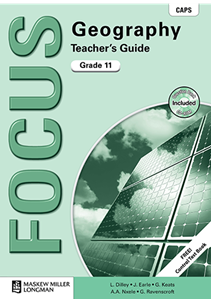 Picture of Focus Geography Grade 11 Teacher's Guide (CAPS) (Includes Control Test Book and Question Bank CD-ROM) (Pearson 2019-2020)