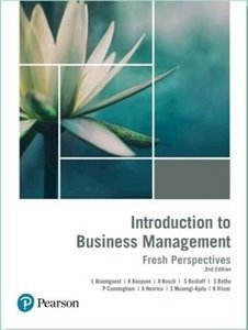 Picture of Introduction to Business Management: Fresh Perspectives 2nd Edition (Botha) (Pearson HE 2019-2020)