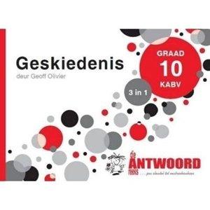 Picture of Die Antwoord Reeks Graad 10 Geskiedenis '3 in 1'  (The Answer Series 2019-2020)
