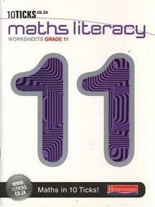 Picture of 10Ticks Mathematics Literacy Workbook Grade 11 (Pearson 2019-2020)