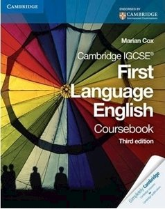 Picture of Cambridge IGCSE First Language English Coursebook 3rd Edition 2009, by Cox, Marian